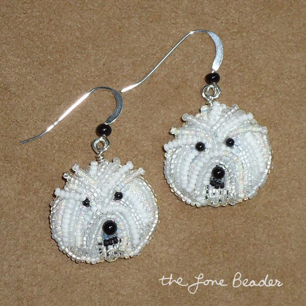 Beaded BICHON- FRISE by thelonebeader